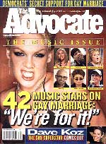 Pink on the cover of the Advocate