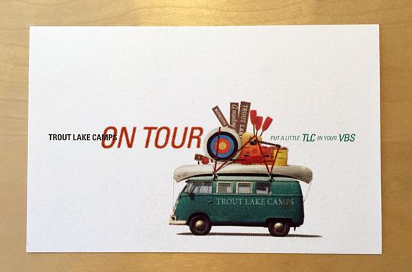 Trout Lake Camps postcard