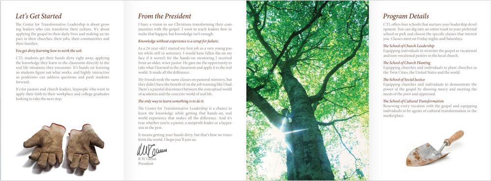 Center for Transformative Leadership brochure
