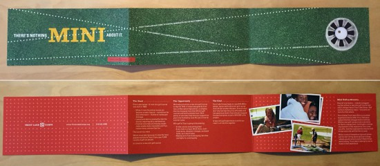 Trout Lake Camps Mini Golf Fundraiser brochure