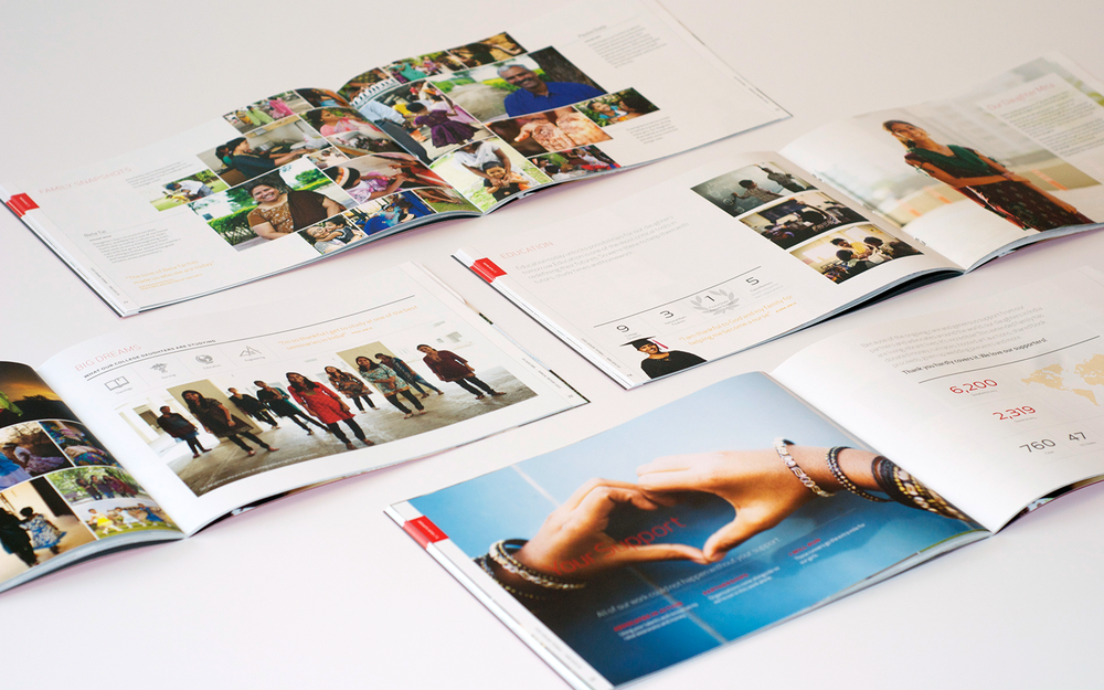 Interior pages of As Our Own 2013 annual report