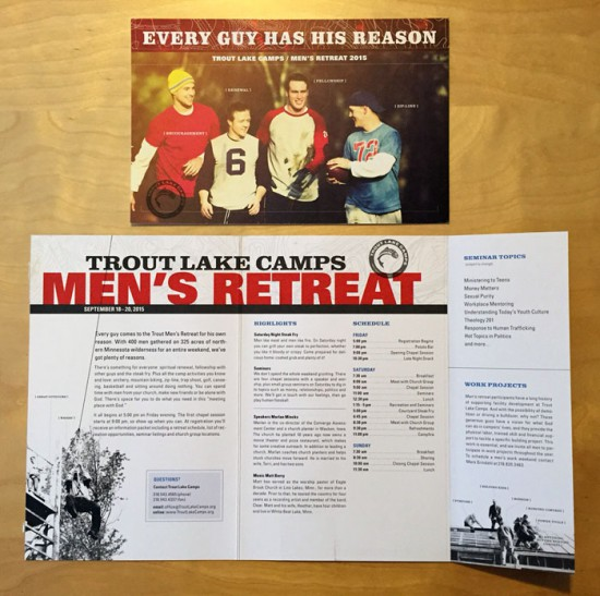 Trout Lake Camps 2015 Men's Retreat brochure