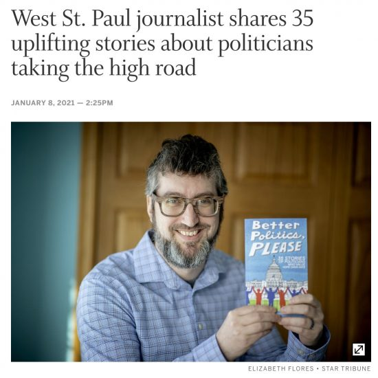 West St. Paul journalist shares 35 uplifting stories about politicians taking the high road