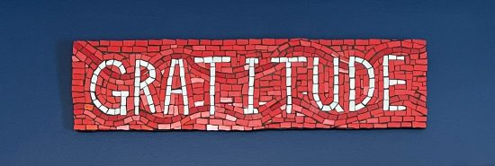 """Gratitude"" mosaic artwork by Lori Greene"