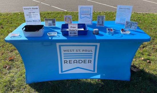 West St. Paul Reader booth